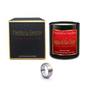 Bougie Bijoux Parfum Aqua Di Gio