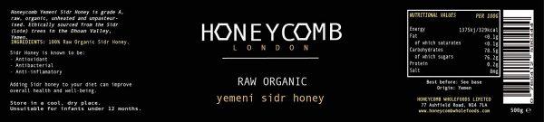 Ingrédients du miel de yemen
