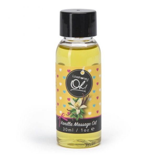 Huile de massage comestible à la Vanille LoveHoney