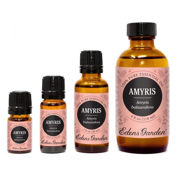 Les bouteilles d'huile essentielle d'Amyris