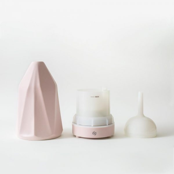 Les composants du diffuseur en céramique rose