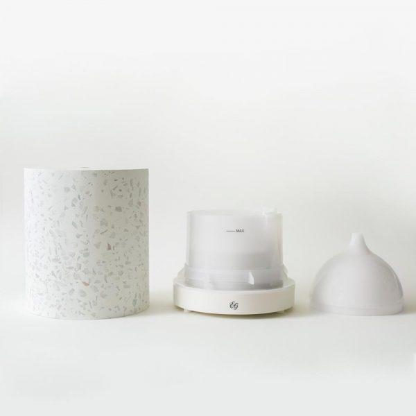 Les composants du diffuseur en pierre de Terrazzo