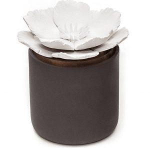 Diffuseur bloom en céramique couleur charbon de bois