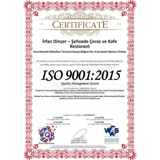 Certificat 2 Miel Aphrodisiaque Turc au Macun