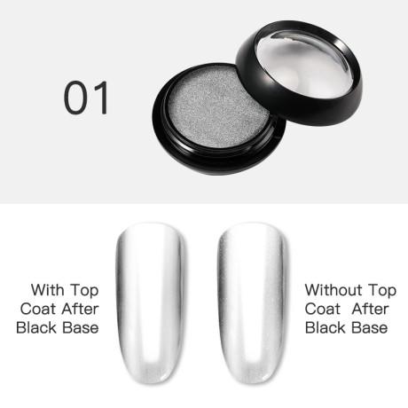 Poudre Acrylique Effet Chrome Rosalind 1