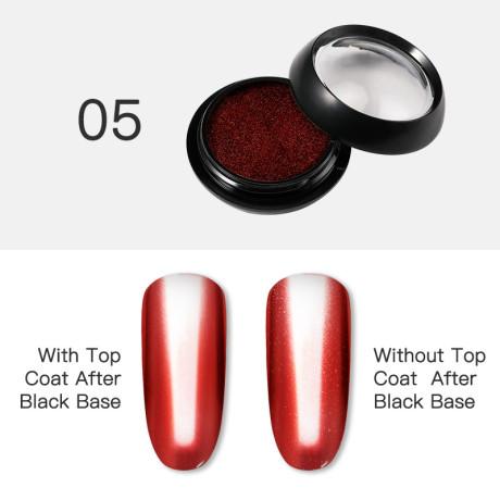 Poudre Acrylique Effet Chrome Rosalind 5