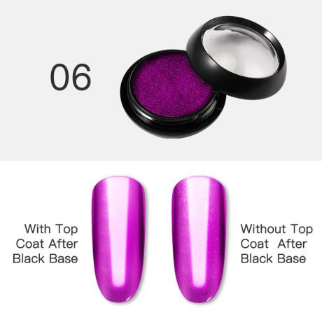 Poudre Acrylique Effet Chrome Rosalind 6