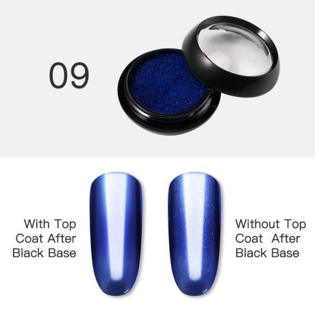 Poudre Acrylique Effet Chrome Rosalind 9