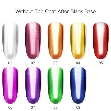 Poudre Acrylique Effet Chrome Rosalind Sans Top Coat