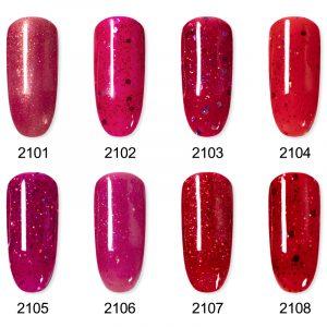 Rosalind Gel Polish Paillettes Collection Rouge