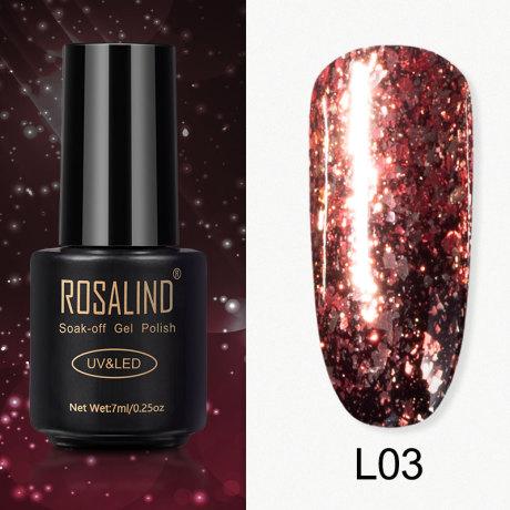 Rosalind Gel Polish Paillettes Meteore L03