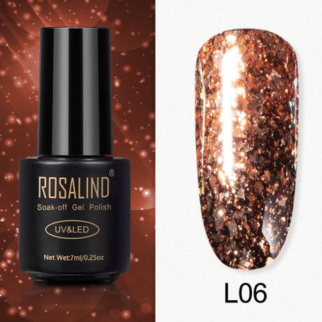 Rosalind Gel Polish Paillettes Meteore L06