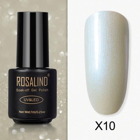 Rosalind Gel Polish Paillette Perle X10