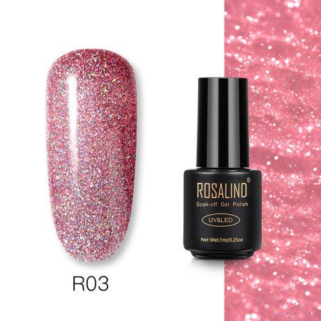 Rosalind Gel Polish Paillettes Néon R03