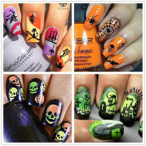 2 Plaques Stamping Halloween Double Face Ejiubas Exemple