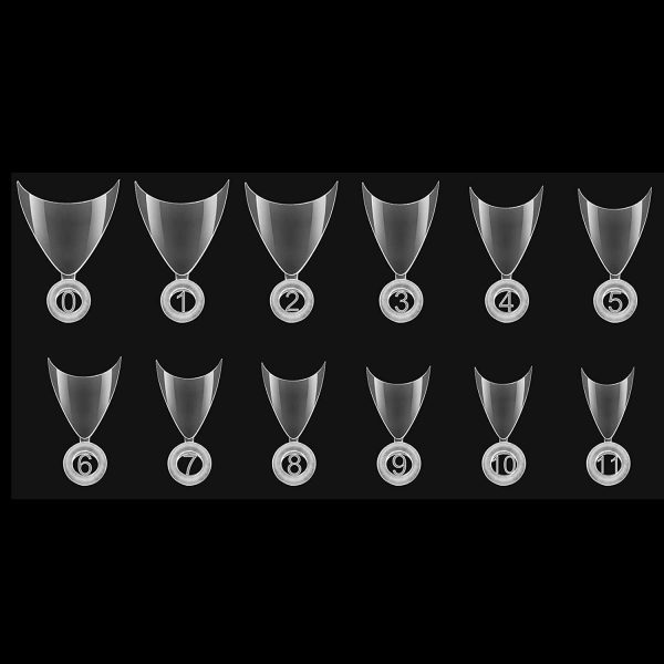 600 Faux Ongles Stiletto Transparents