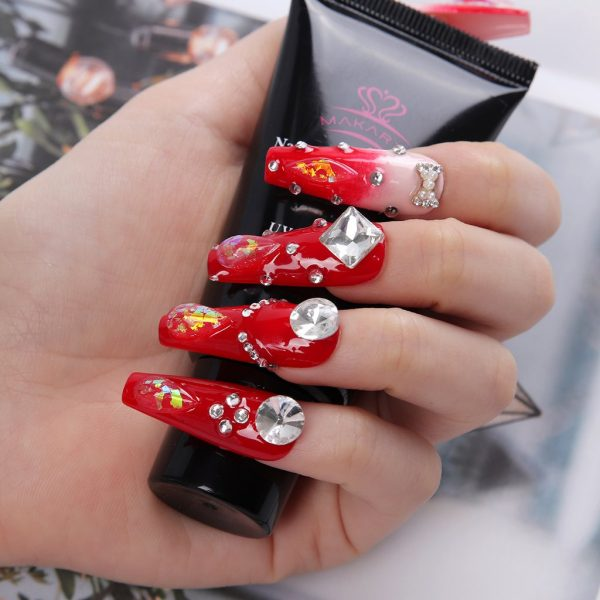 Colles Strass Faux Ongles Makartt Exemple