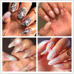 Faux Ongles Stiletto Chrome Exemple