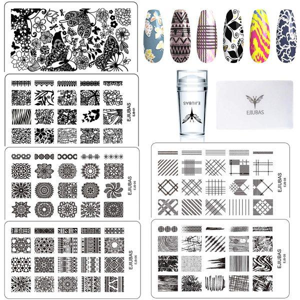 Kit 3 Plaques Stamping Tampon Racloir Ejiubas
