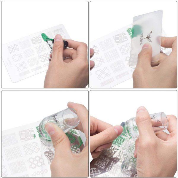 Kit 3 Plaques Stamping Tampon Racloir Ejiubas Tuto