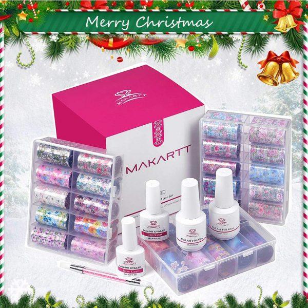 Kit Nail Art Decoration Ciel Fleuri Gift Box