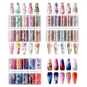 Kit Nail Art Decoration Ciel Fleuri Liste