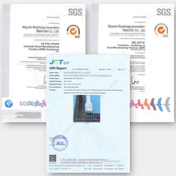 Kit Nail Art Decoration Florale Certificats