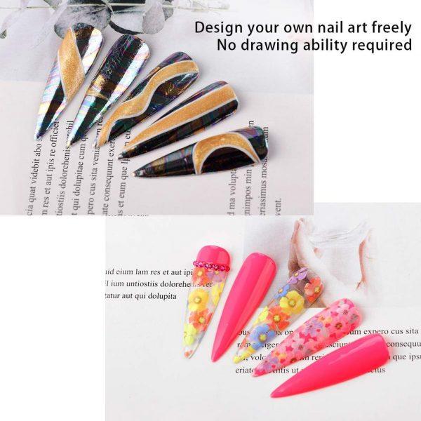 Kit Nail Art Decoration Florale Exemples