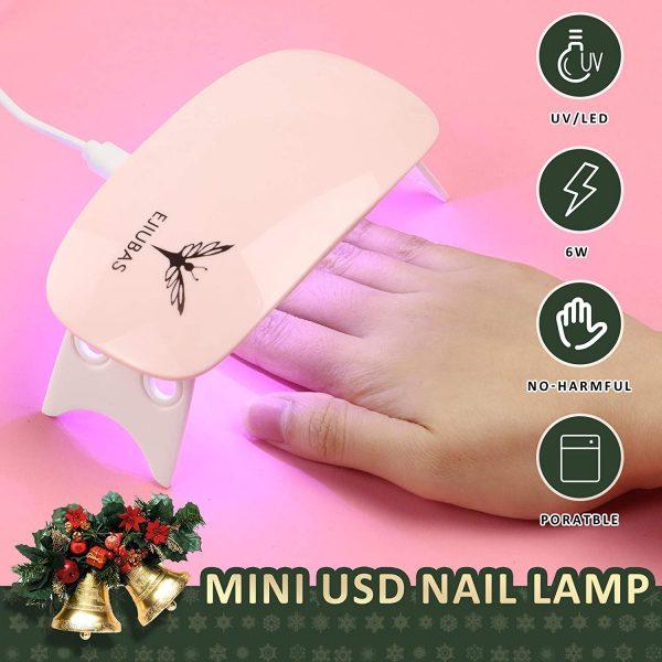 Kit Nail Art Lampe UV Stamping Ejiubas