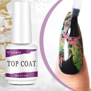 Kit Nail Art Stamping Ejiubas Top Coat