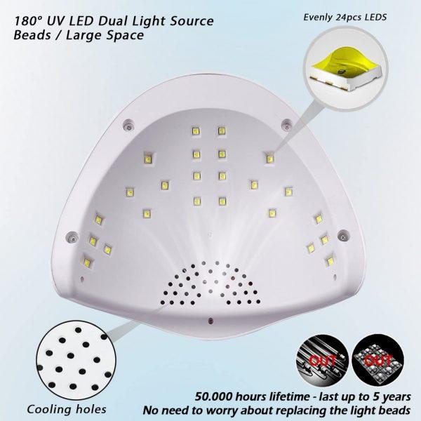 Lampe 48W UV LED Longue Durée