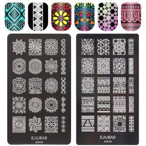 Plaque Stamping XXL Design Mandalas Ejiubas