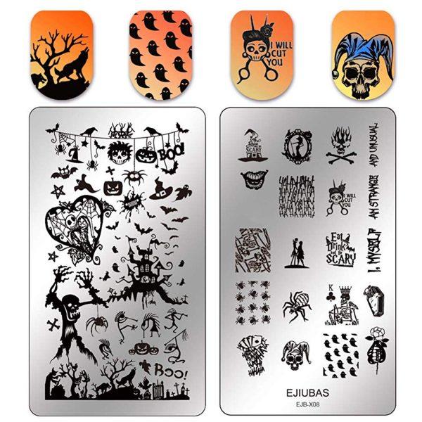 Plaques Stamping Halloween Ejiubas