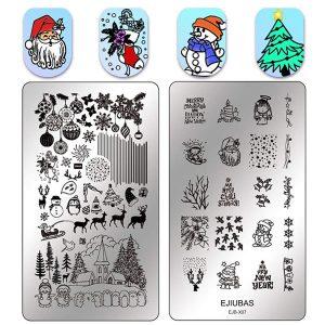 Plaques Stamping Noël Ejiubas