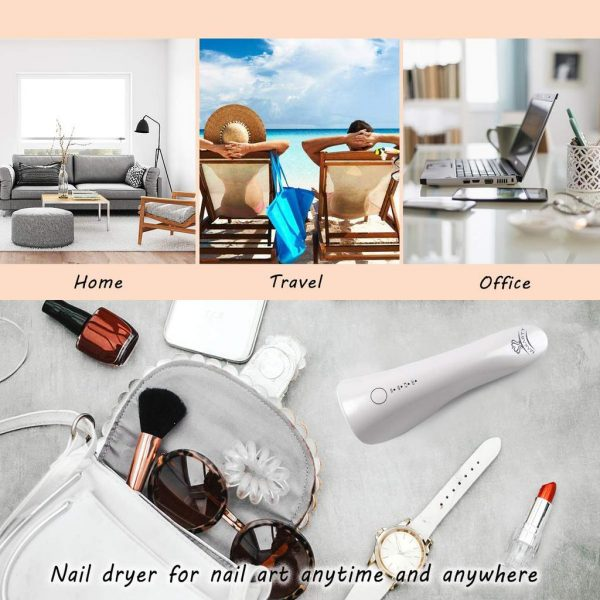 Sèche Ongles Portable LED UV 5W Rechargeable Exemple