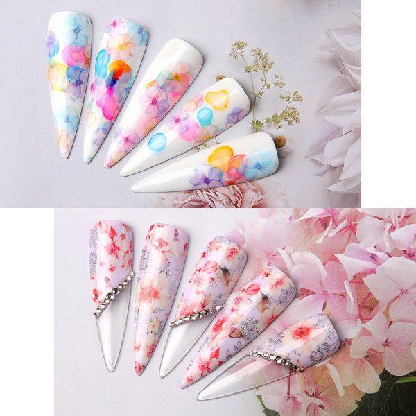 Set Autocollants Fleuris Exemple 2