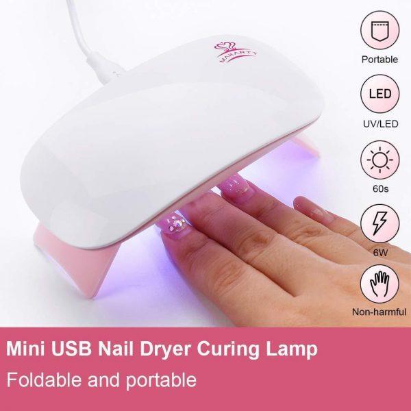 Set Tout en un Stickers Nail Art Lampe LED