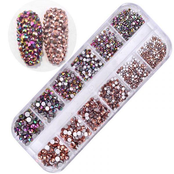 Boîtes de Strass Diamant Crystal Nail Art Exemple