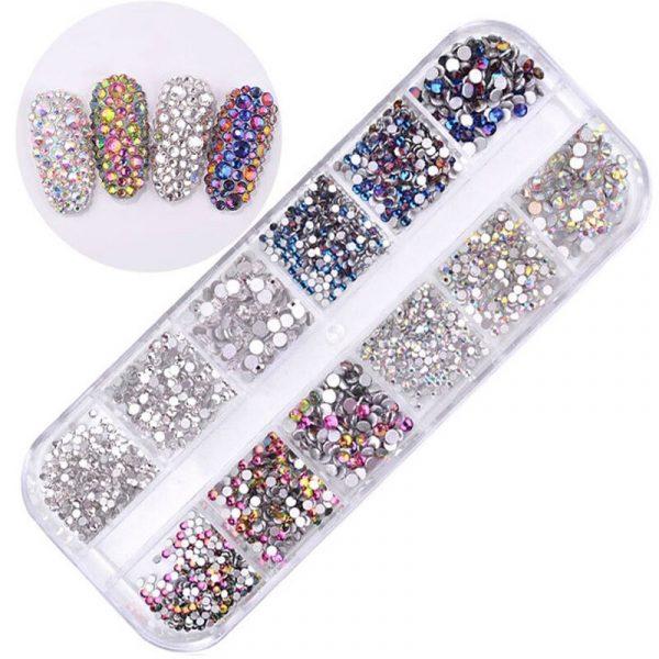 Boîtes de Strass Diamant Crystal