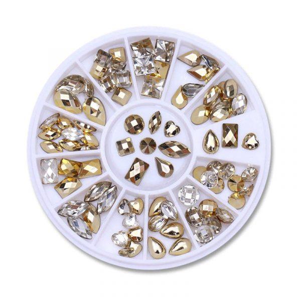 Boîtes de Strass Diamant Crystal Nail Art