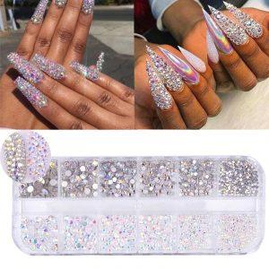 Boîtes de Strass Diamant Crystal Nail Art Exemple 2