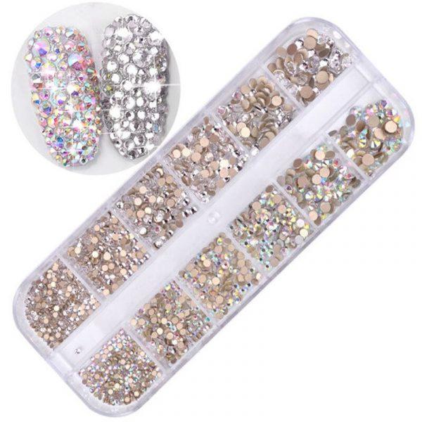 Boîtes de Strass Diamant Nail Art