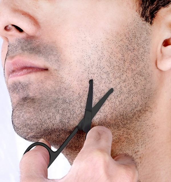 Ciseaux à Barbe & Moustache Professionnels Utopia Noir Barbe 2