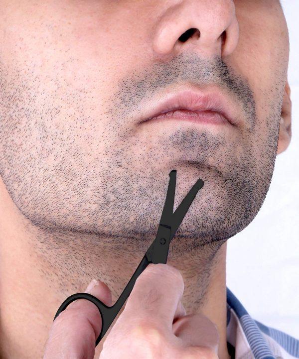Ciseaux à Barbe & Moustache Professionnels Utopia Noir Barbe
