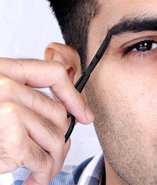 Ciseaux à Barbe & Moustache Professionnels Utopia Noir Sourcils