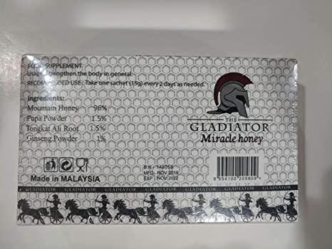 Ingrédients Gladiator Miracle