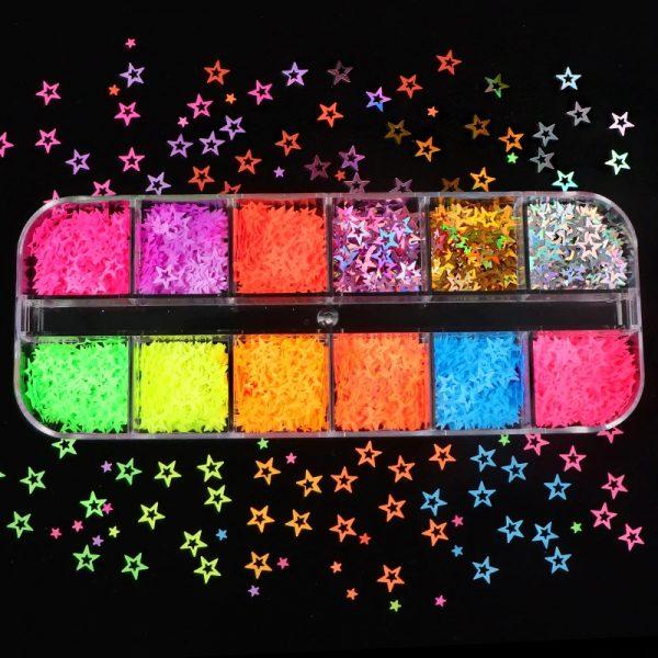 Paillettes en forme d'Etoiles Multicolores