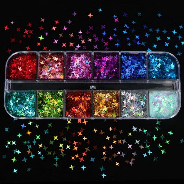 Paillettes Etoiles Multicolores