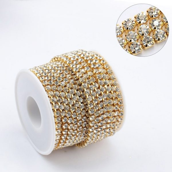 Rouleau Strass Gold Clair