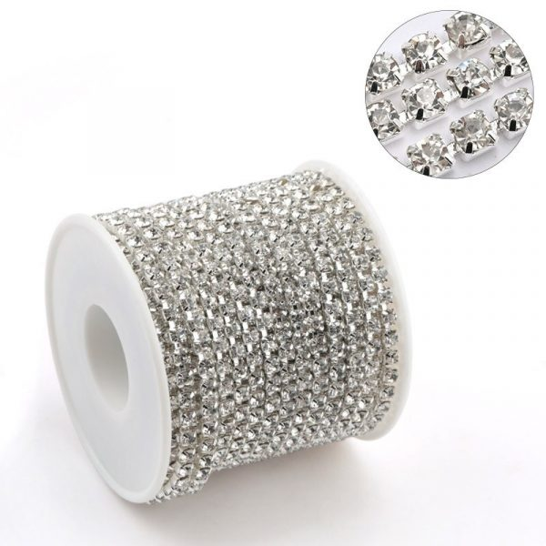 Rouleau Strass Silver